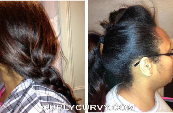 ponytail and braid protective styles